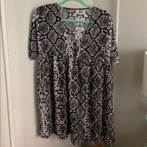 Zara snake print babydoll tunic dress